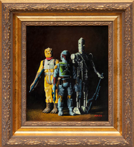 Boba Fett, IG-88 and Bossk - Vintage Star Wars figure Oil Painting by Mats Gunnarsson