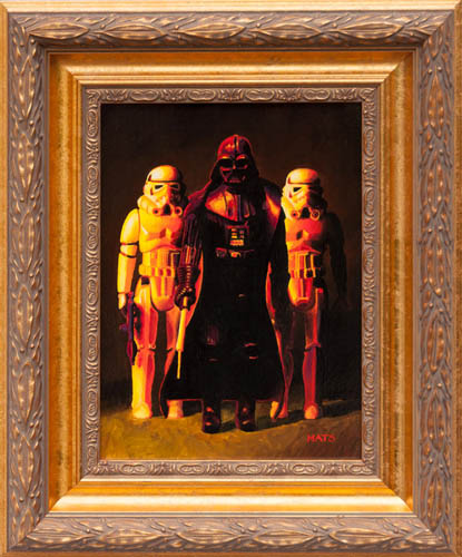 Darth Vader and Stoormtroopers - Vintage Star Wars figure Oil Painting by Mats Gunnarsson