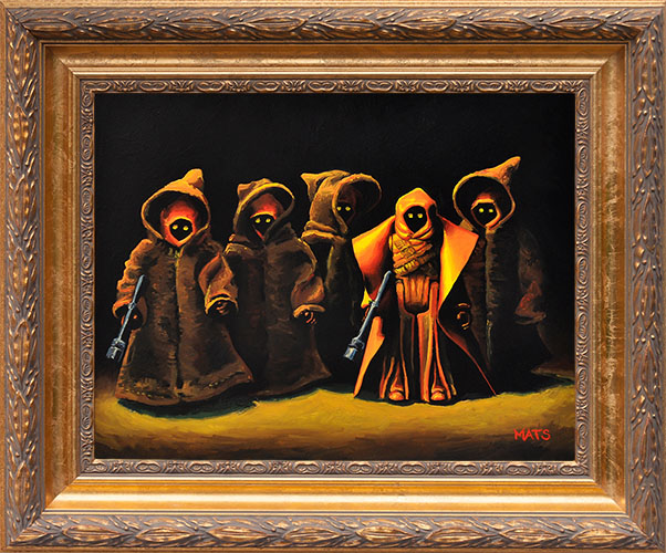 Jawas - Vintage Star Wars figure Oil Painting by Mats Gunnarsson