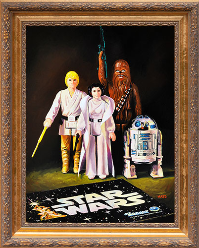 Early Bird figures - Vintage Star Wars figure Oil Painting by Mats Gunnarsson
