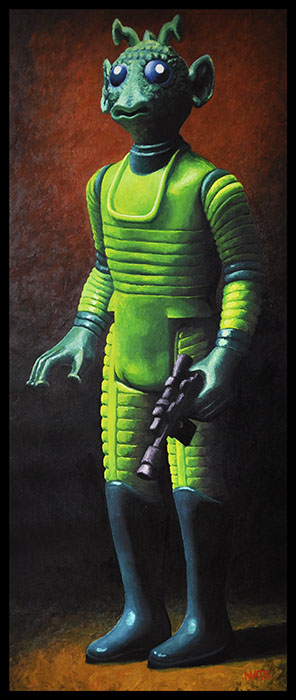 Greedo - Lifesize Star Wars figure Oil Painting by Mats Gunnarsson