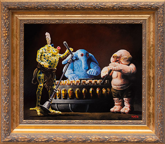 Max Rebo Band - Vintage Star Wars figure Oil Painting by Mats Gunnarsson